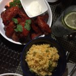 Buffalo Wings & Anatto Rice