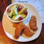 Kid's Chicken Tenders with a side of fruit