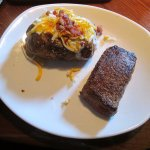 Sirloin with loaded baked potato