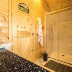 Glamping pod ensuite shower room