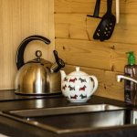 Glamping pod kitchen