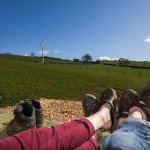 scenic view from glamping pod