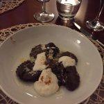 cocoa ravioli with ricotta