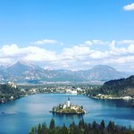 Ojstrica viewing point of Lake Bled
