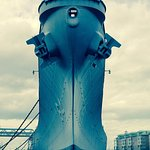 Front shot of the Battleship Wisconsin