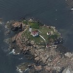 Flying Over Nubble Light In Cape Neddick, Maine
