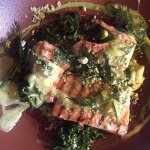 Grilled Salmon Barley, apple, green pea, broccoli