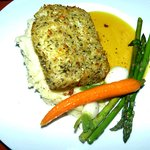 Almond crusted cod.
