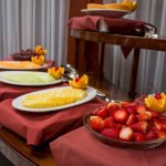 Closeup of our breakfast buffet fruit display