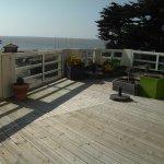 Terrasse de la chambre double de luxe, face mer