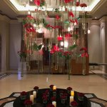 Beautiful contemporary floral display in reception