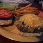 Cheeseburger with all the fixings! You won't leave hungry!
