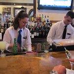 busy bartenders