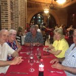 This is a small group of friends with us at Sorrisi's.