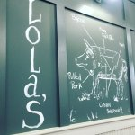 Lola's was a slam dunk for lunch. Amazing food and simply great down to the last detail