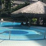 The beautiful pool and swim up bar. Wear sunscreen!