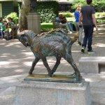 Sculpture of a billy goat