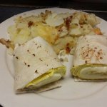 Egg and cheese wrap