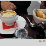 French onion soup - VERY cheesy
