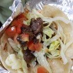 #5 Chicano $5.75 Skirt steak, soft flour tortilla, lettuce & tomato, mozzarella cheese