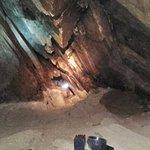 Tercer cueva, pasadizo hacia la laguna de agua mineralizada
