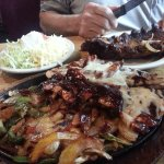 Sizzling barbeque platter for two!