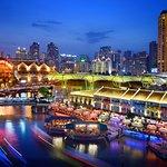 Novotel Singapore Clarke Quay's facade along the banks of the historical Singapore River