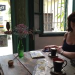 Made it to Hanoi after a dreadful night train! This cafe was v nice. Proper lattes. Delicious fr