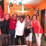 At the Calypso with the owner, Felipe