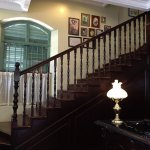 Reception stairway to the dining room