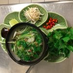 traditional pho with tenderloin beef