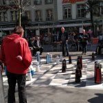 People playing Chess in the market palce