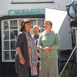 Filming outside the Buttermilk shop for Doc Martin