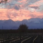 Gorgeous sunset behind nearby Andes!
