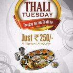 Rajdhani restaurant all Tuesday all tuesday offer 450rs. thali worth of rs.250 only.