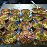 Mamledar Misal restaurant-prepairing of misal dish.