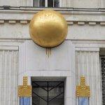 ウィーンで見かけた金の玉(建物の装飾)