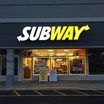 Well lit Subway restaurant