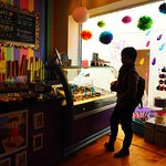 Colourful shop and ice cream is very delicious.