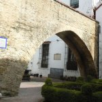 Ancient arch of the original medieval building.