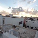 Rooftop vista of sunset