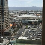 Phoenix Suns' arena viewed from hotel