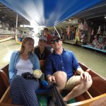 My wife, Mandy, and me and the floating market