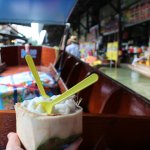 Coconut ice cream at the floating market