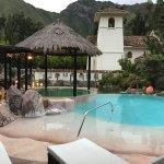 Nice hot tub and pool