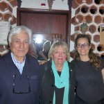 Sandra, on the right, her father on the left and my wife in the middle
