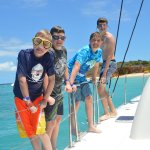 Our kids loved jumping off the boat.