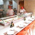Nuestra barra de sushi Teriyaki