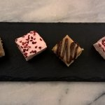 complimentary petit fours - the most amazing marshmallow squares!!!
