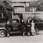 Depression Era Bookmobile sponsored by WPA.